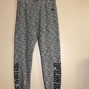 Pink Victoria's Secret Grey Sweat Pants XS